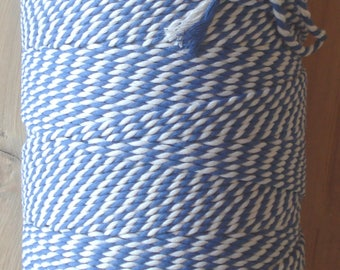 Bakers twine, 10 meters, blue and white, cotton, twine, rope, drawstring, string