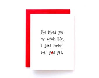 Valentine Card for Fiancé Card - Anniversary Card for Husband - Anniversary Card for Wife - I Love You Card - I've Loved You My Whole Life
