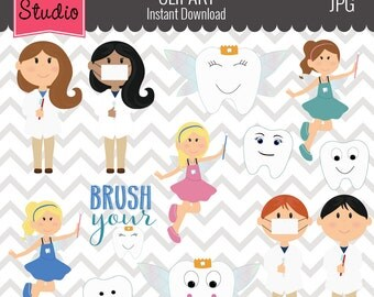 Dentist Clipart // Dental Hygeniest Clipart // Tooth Fairy Clipart // Commercial Use - EV100