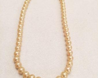 Vintage Lovely Faux Pearl Necklace-Made In Japan-Estate Sale Find!
