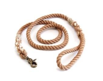 6 FT Tan Rope Dog Leash