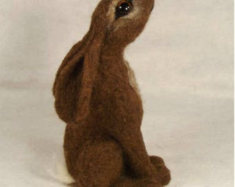 PDF Needle felting tutorial, Moon gazer PDF needle felting tutorial, Needle felted hare and bear tutorial