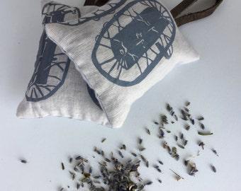 Lavender Sachets, Set of 2, Sachet Pillows, Drawer Sachets, Car Freshener, Gifts Under 20