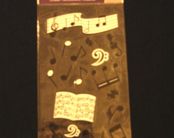 EK Success- Sticko- Silhouette Musical Notes-Sheet Music- 19 Stickers- Brand New