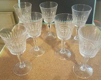 Seven Cordial Glasses