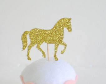 horse cupcake topper, horse party, horse party decor (12 toppers)