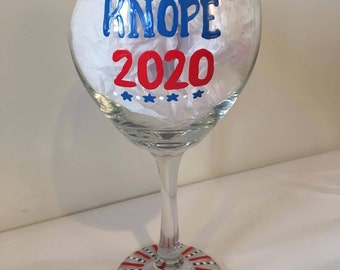 Knope 2020 Wine Glass - Parks and Rec - Leslie Knope