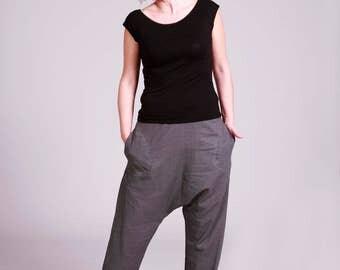 Grey linen pants | Etsy