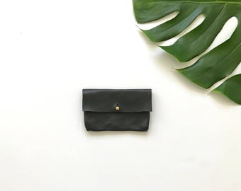 Black Classic Business Card Holder