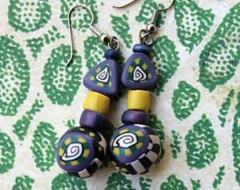 90's Beaded Earrings