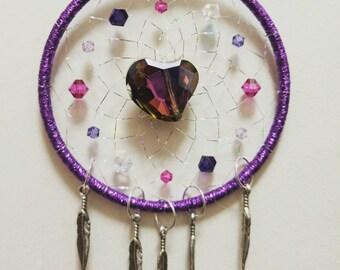 You Make My Heart Melt Purple Dreamcatcher 3 inch