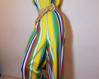 FREE  SHIPPING  Psychedelic  Palazzo  Jumpsuit