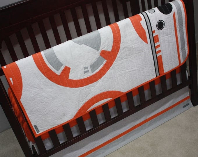 Star Wars Baby Bedding--BB-8--Custom Crib Bedding-MTO