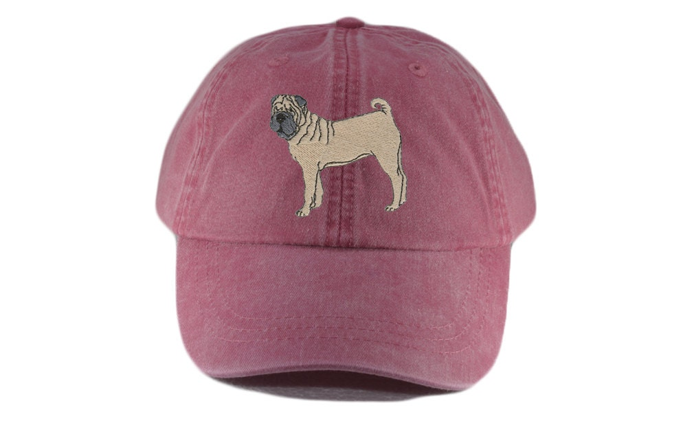 f78e6c5f8 Shar pei embroidered hat, baseball cap, dog lover gift, pet mom cap,