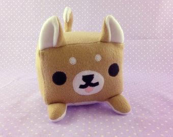 Shiba Inu Plush   Tan Shiba Inu Stuffed Animal   Dog Loaf Plush   Dog Lover Gift