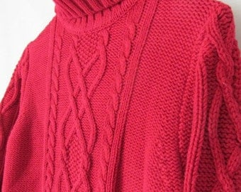 Red sweater | Etsy