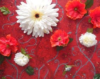Silk Flowers Photo Print