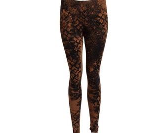 Womens fractal leggings, Tribal print leggings, patterned festival leggings, geometric pattern, Steampunk tights, goa leggings, yoga wear