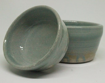 Teal Green Celadon Stacking Pottery Bowls, Handmade Pottery, Ceramic Bowls, Stacking Bowls, Pottery Bowls