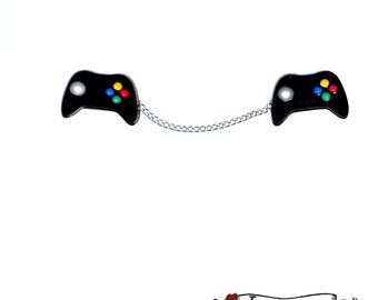 Gamer Sweater Guard Clips ~ Gaming Console Remote Pins