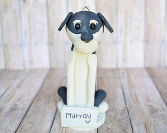 Your Dog made in Clay, Custom Dog ornament, Personalized Christmas ornament, dog ornament, dog breed ornament,