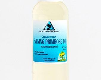 2 oz EVENING PRIMROSE OIL Organic Carrier Cold Pressed Unrefined Virgin Raw Pure