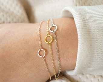 Karma Bracelet, Friendship Bracelet, Mother & Daughter, Rose Gold, Gold, Silver, Circle, Best Friend, Going Away, Birthday Gift, Bridesmaids