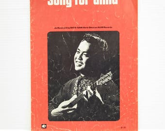 SONG FOR ANNA Sheet music, Vintage piano music, French sheet music, vintage sheet music, vintage paper ephemera, collectible piano music