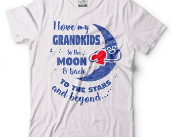 Grandparents T-Shirt Gift For Grandmother Grandfather Tee Shirt Birthday Gift Ideas Tee Shirt