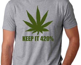 Keep It 420 T-Shirt Legalize Weed Marijuana Tee Shirt