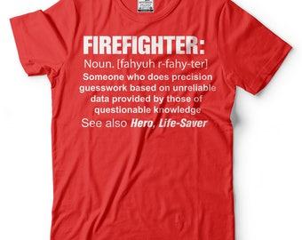 Firefighter Noun T-Shirt Gift For Firefighter Funny Occupation Tee Shirt