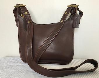 Vintage COACH Brown Leather Janice Legacy 9950 Shoulder Bag Crossbody Purse