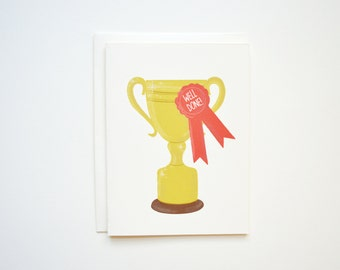 Well Done Trophy Card