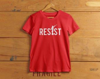 RESIST T-shirt - Angel Moroni Mormon Political T-shirt - Liberal Resistance