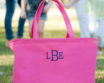 Ultimate Tote Bag, Hot Pink Tote,  The Ultimate Collection, Monogrammed
