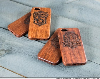 Harry Potter Hogwarts Engraved iPhone Case - Gryffindor, Hufflepuff, Ravenclaw, Slytherin
