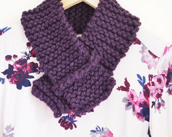 Womens purple collar, Womens purple scarf, Womens purple neckwarmer, Purple scarf, Purple collar, Purple cowl, Purple neckwarmer  150)