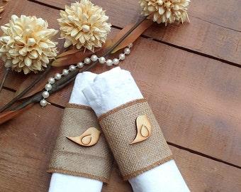 Burlap Napkin Holder - Burlap Serviette Holder - Burlap Napkin Ring Holder - Wedding Napkin Holder  - Rustic Table Decor - Choose Qty