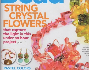 BeadStyle, magazine, May 2006, crystal flowers, earrings, necklaces, hardware jewelry