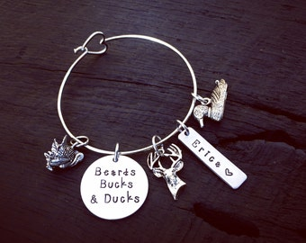 Beards Bucks & Ducks Bracelet © | Hunting Bracelet | Hunting Jewelry | Gift For Huntress | Turkey Hunter | Deer Hunter | Duck Hunter | Gift