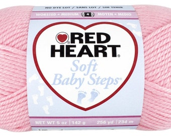Red Heart Soft Baby Steps - Light Pink