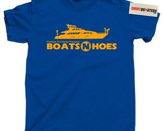 Step Brothers Boats N and Hoes Will Ferrell Brennan Huff John C Reilly Dale Doback Prestige Worldwide Anchorman 2 Ricky Bobby tee T Shirt