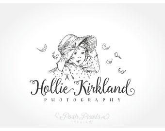 Logo Design (Premade) Child logo, Cute Logo, Hat logo, Photography logo, Wind logo, Business logo, Boutique logo