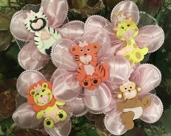 Jungle Safari Confetti Flower Favors, Baby Shower, Almond Favors, Bomboniere, Italian favors, Jordan almonds flowers, Koufeta, Favours,