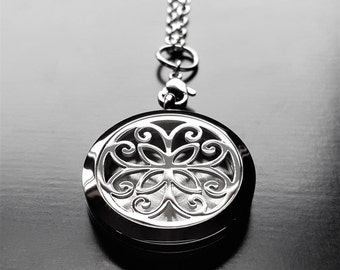 Essential Oil Diffuser Floating Locket-Large (30mm)-Stainless Steel-Option to Add Chain-Gift Ideas