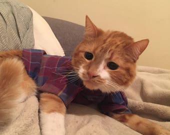 Cheddar Pet Plaid Flannel Shirt