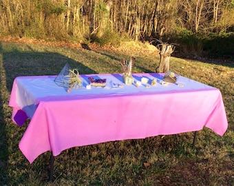 Pink Cotton Dip Dye Tablecloth 60 x 94