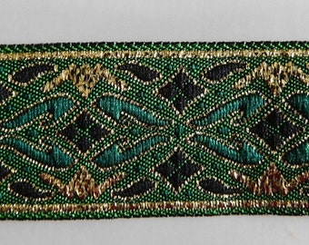 "Metallic Jacquard Ribbon Trim | 7/8"" Inch Woven Jacquard Ribbon 