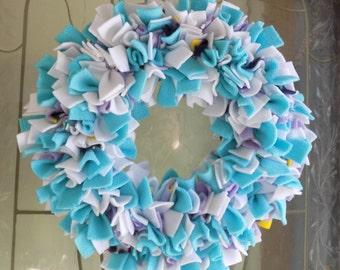 Winter Fun Fleece Rag Wreath