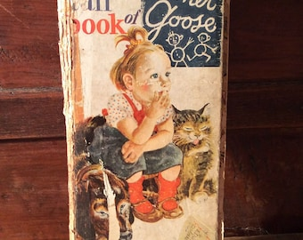 Vintage Antique Estate 1942 The Tall Book of Mother Goose First Edition Printing Nursery Rhymes Lithographs